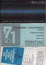 1971 PONTIAC US Owners Manual CATALINA BONNEVILLE GRANDE VILLE
