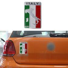 Italian Flag Map Car Sticker Logo Emblem Badge Aluminum For Iveco Lamborghini