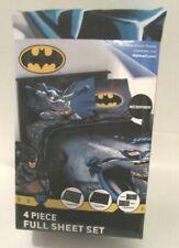 DC Comics Batman Microfiber Bedding Sheet Set - 4 Piece, Full Size