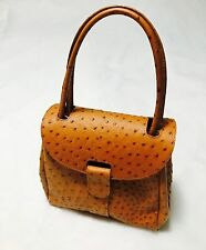 Ostrich Leather Handbag