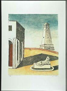 GIORGIO DE CHIRICO * 50 x 70 cm * signed lithograph * limited # 20/99