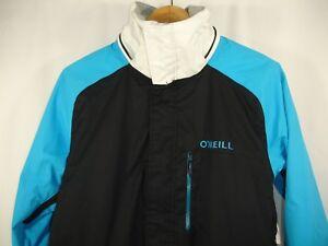 O'NEILL Escape Series Mens Black Blue Ivory Ski Snow Jacket XS
