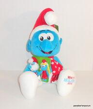 New Macys Christmas Smurf Plush Doll Smurfs w/ Finger Puppets 2010 Exclusive BIG