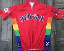 Boston Red Sox Foundation Team #9 Cycling Red Jersey Quality Stitched Vomax Sz L