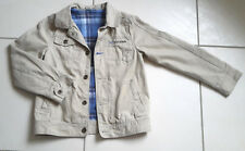 Veste beige garçon 10 ans KIABI coupe type veste en jean doublée