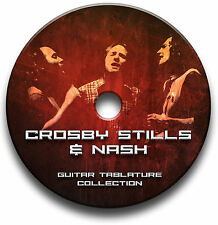 Crosby Stills & Nash Folk Rock Guitar Scheda tablature CANZONIERE CD del software