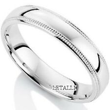 14K WHITE GOLD MENS WEDDING BAND RING 4MM