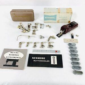 Vintage Greist Sewing Machine Accessories & Attachments Feet Ruffler Binder Lot