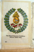B.D.V. Cigarettes Silk- THE ROYAL MUNSTER FUSILIERS 101st & 104th Foot SILK