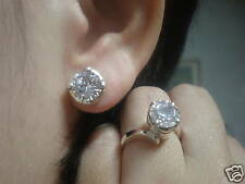 jem: 1 ct.SOLO STUD EARRINGS AND DIAMOND RING