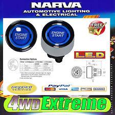 NARVA LED PUSH BUTTON IGNITION ENGINE STARTER SWITCH CAR BOAT BLUE 60097BL START