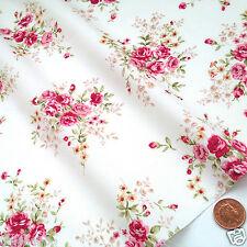 "Half x metre Sophie floral roses ivory fabric  45"" (112cm ) wide 100 % cotton"