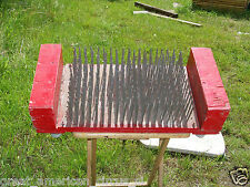 RARE AUTHENTIC CIRCUS SIDESHOW BED OF NAILS PROP,FREAK,ODDITY,MAGIC,CARNIVAL