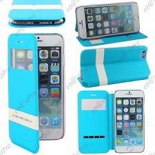 """Accessoire Housse Coque Etui S-View Flip Cover Bleu Apple iPhone 6S 4,7"""""""