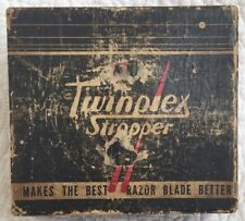 Vintage Twinplex Safety Razor Blade Sharpening Tool with Box Display Only
