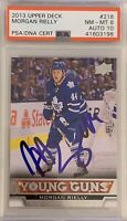 2013 2014 UPPER DECK Morgan Rielly AUTO 10 PSA 8 YOUNG GUNS RC ROOKIE Toronto