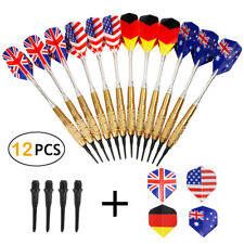 12 Dartpfeile mit 100 Dartspitzen Soft-Dartpfeile 4 Sets je 3 Flights