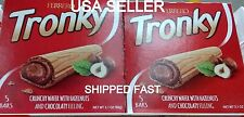 Tronky Hazelnut Wafers Cookies Galletas Candy Bar Italy Sweets Food Snacks 6pk