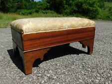 Darling 1880s Antique Victorian Carved Empire Burl Mahogany Footstool Foot Rest