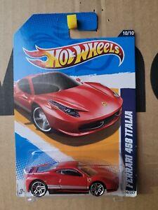 Hot Wheels 2012 - FERRARI 458 ITALIA  [RED] VHTF NEAR MINT CARD GOOD