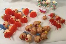 LOT TRUE VINTAGE CLOWN CAKE/CUPCAKE TOPPERS