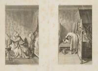 CHODOWIECKI (1726-1801). Eheglück auf dem Sofa & Der gichtkranke Mops 3
