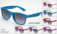 Classic Kids Sunglasses Colorful Rubber Soft Frame Boys Girls Lead Free UV 100%