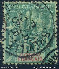 CONGO TYPE GROUPE N° 15 AVEC OBLITERATION
