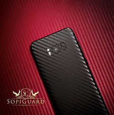 SopiGuard Carbon Fiber Vinyl Skin Front + Back for Samsung Galaxy S8+ S8 Plus
