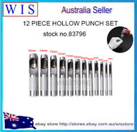 12/PK Hollow Punch Set Leather Hole Punch,3mm-16mm for Leather Working DIY Tools