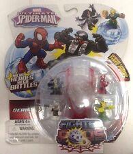 Marvel Ultimate Spiderman Micro Heroes Mega Battles Fighter Pods Series 1