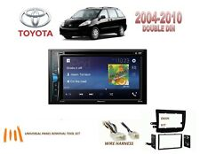 TOYOTA SIENNA 2004-2010 DOUBLE DIN CAR STEREO KIT TOUCHSCREEN BLUETOOTH DVD