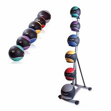 CAP Barbell Medicine 6 Ball Set Rack Workout Rubber Weight Fitness Exercise New
