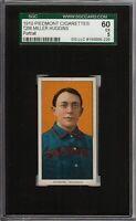 1909-11 T206 HOF Miller Huggins Portrait Piedmont 350 Cincinnati SGC 60 / 5 EX