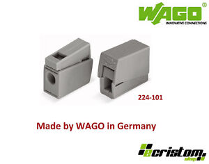 Wago 224-101 Reusable Lighting Electrical Connector Series Block Cage Clamp Wire