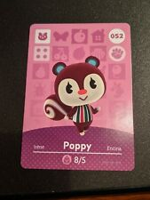 Poppy #052 Animal Crossing Amiibo Card Authentic Never Scanned