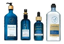 4 Pc Bath & Body Works Aromatherapy Lavender Set- Oil Mist Lotion Body Wash Oil