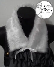 Australian Made White Collar Toy Faux Fur Neck (SECOND) by Lucy's Envy W120
