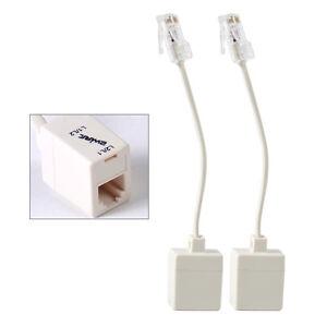 2 pcs Telephone RJ11 6P4C Female To Ethernet RJ45 8P8C Male Adapter Converter