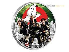 1 $dólares Ghostbusters ™ - la tripulación-the crew Tuvalu 1 onza Oz plata pp 2017