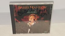 Signed Barry Manilow Autographed CD-Live On Broadway.RARE