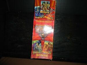 Boxes W/ 100 Packs Fleer Ultra Skeleton Warriors Cards W/ Foil Glow Animation