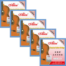 5 Sets Lot A103 High Tension Silver Copper Clear Nylon Classical Guitar Strings