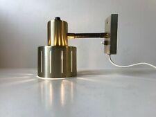 Vtg 60s Vitrika Danish Modern Brass Wall Lamp Hammerborg Alfa Louis Poulsen era