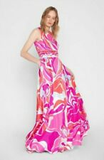 Emilio Pucci  Rivera Print Silk-Twill Evening Dress UK 12 / IT 44 / US 8