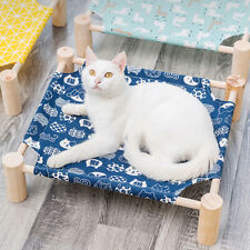 Canvas Elevated Dog Pup Bed Portable Raised Pet Cot Breathable Cooling Mat Beds