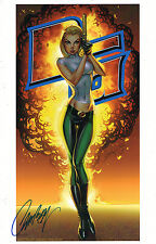 J SCOTT CAMPBELL signed DANGER GIRL ABBEY CHASE ART PRINT w COA  SDCC 2016