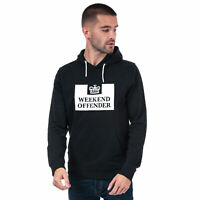 Mens Weekend Offender Kirin Logo Hoody In Black- Ribbed Cuffs And Hem- Pouch