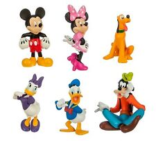 Mickey Mouse Minnie Playset 6 Figure Cake Topper * USA SELLER* Toy Doll Set