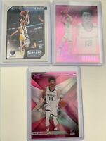ROY 2019-20 Panini Basketball Lot(3) Ja Morant Rookie Cards, Pink XR/Essentials